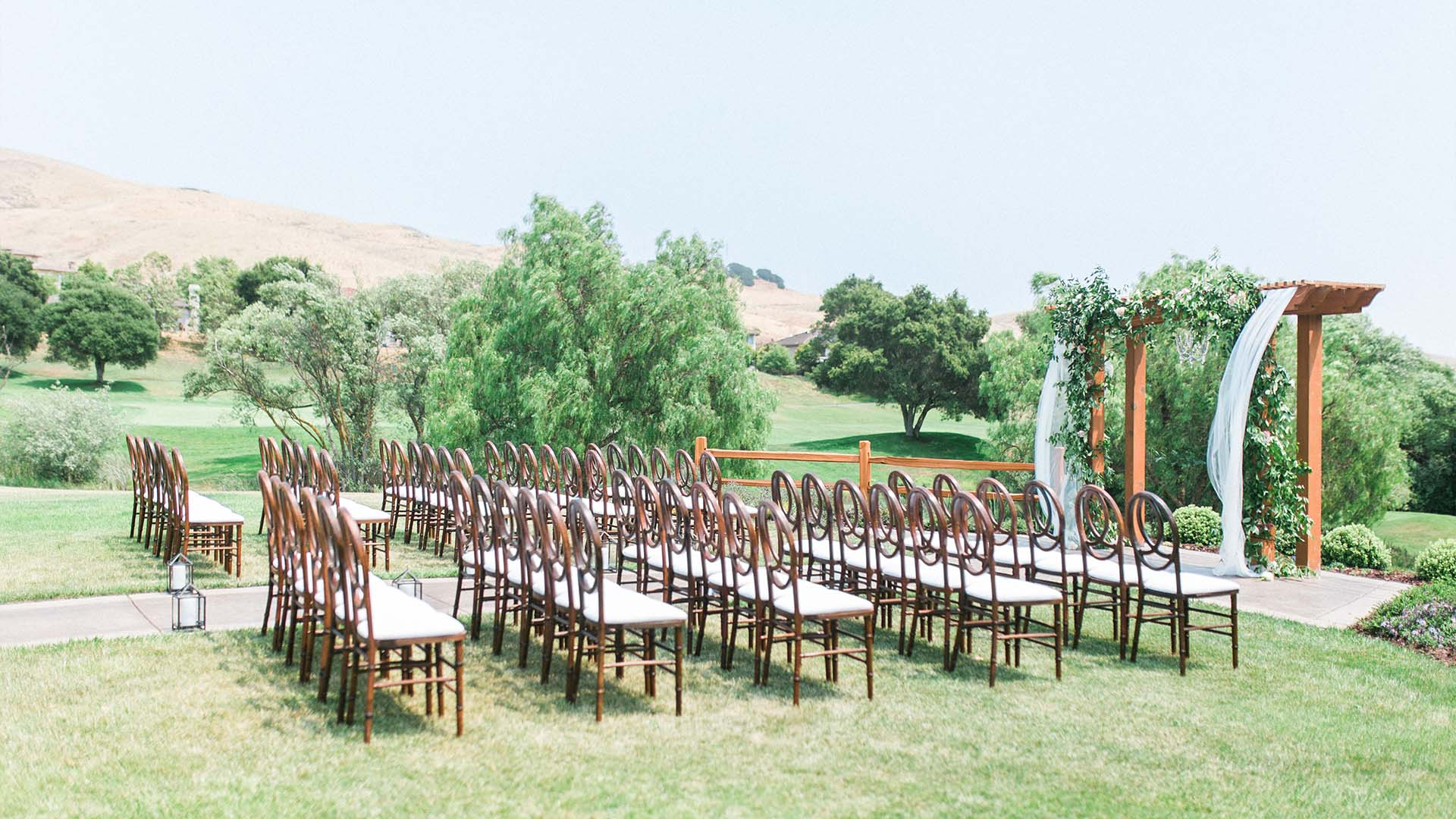 Rolling hills provide a breathtaking background to the fairways ceremony at Hiddenbrooke Golf Club in Vallejo